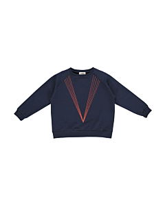 Gro Abby sweat bluse embroidery / Navy