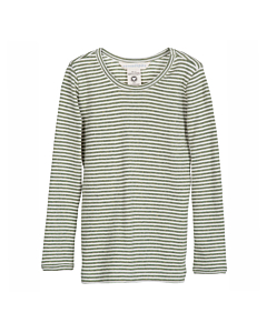 Serendipity slim bluse / Moss-offwhite