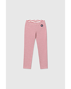 WOOD WOOD Ira leggings / offwhite-red stripes