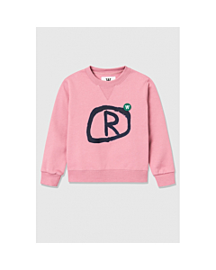 WOOD WOOD Rod Sweat shirt / Rose