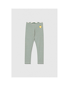 WOOD WOOD Ira leggings / offwhite-faded green stripes