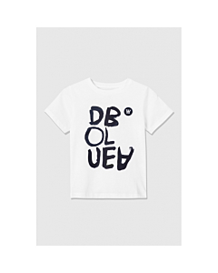 WOOD WOOD Ola T-shirt black print / Bright white