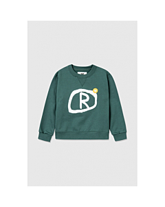 WOOD WOOD Rod Sweat shirt / Faded green
