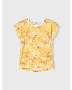 Name It Vigga t-shirt ss21 / Bright White-Flowers