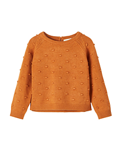 Lil' Atelier Gable short knit bluse / Glazed Ginger