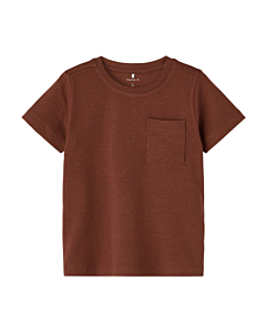 Name it HILMEER t-shirt / Brown out