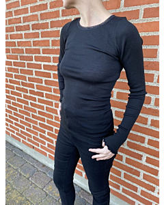 name it WOSSA uld-silke bluse - mor / Black