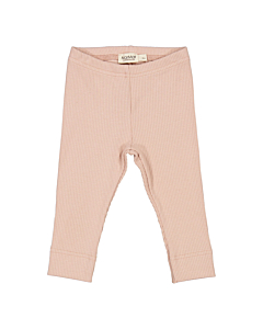 Marmar rib leggings / Light Cheek