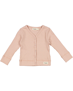 Marmar rib cardigan / Light Cheek