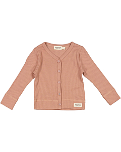 Marmar rib cardigan / Rose Brown