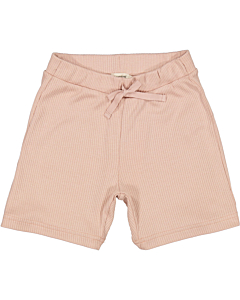 Marmar rib shorts / Light Cheek
