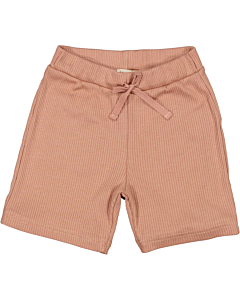 Marmar rib shorts / Rose brown
