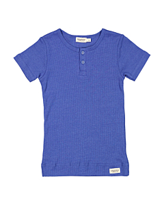 Marmar t-shirt med knap / Space Blue