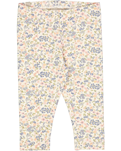 Wheat Jersey leggings med blomsterprint / flowers and seashells