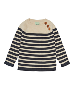 FUB baby Sweater / Ecru-Dark navy
