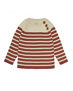 FUB baby Sweater / Ecru-Brick
