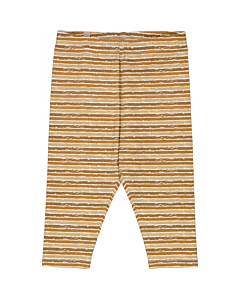 Wheat jersey leggings / Caramel Stripe