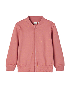 name it Bodil sweat cardigan - økologisk / Withered rose