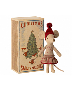 Maileg Christmas mouse in box / big sister