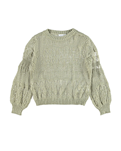 name it DROONA strikbluse / Silver sage