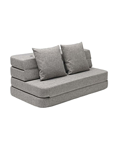 By Klip Klap KK3 Fold sofa / Multi Grey w. Grey