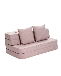 By Klip Klap KK3 fold sofa / Soft Rose w. Rose