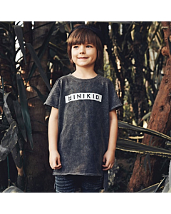 MINIKID T-shirt palm / Graphite