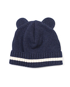 Huttelihut Minnie bear hue med øre / Navy - Off white