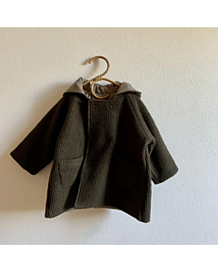 Hello Lupo Double button coat / moss green