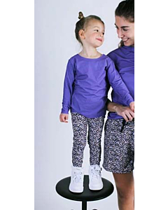 LIBERTÈ Alma Leggings / Purple flower - kids
