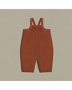 Deep Earth Terry Cropped Dungarees