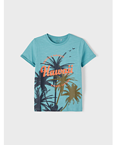 name it JOHAN t-shirt / Aqua