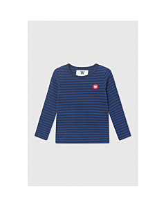WOOD WOOD Kim bluse / Navy-blue stripes