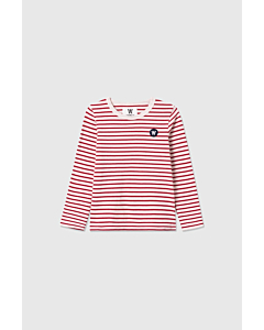 WOOD WOOD Kim langærmede bluse / Offwhite-red stripes
