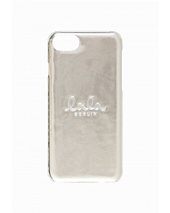 Lala Berlin Iphone Lacquer Cover / Silver Metallic