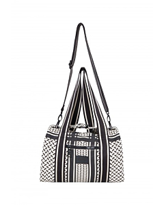 Lala Berlin Small Bag Muriel / Kufiya off white - Black