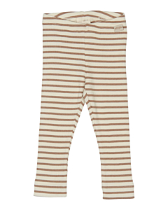 Petit Piao stribede rib Leggings / Natural-eggnog