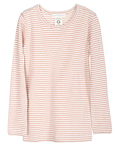 Serendipity stribet slim bluse / Clay -offwhite