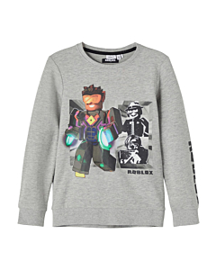 name it ROBLOX mose sweatblue / Grey melange ss21