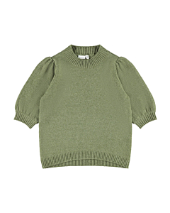 Name It Banesa kortærmet strik / Deep lichen green