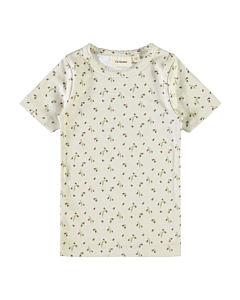 Lil´Atelier blomster GAYA t-shirt ss21 / Turtledove