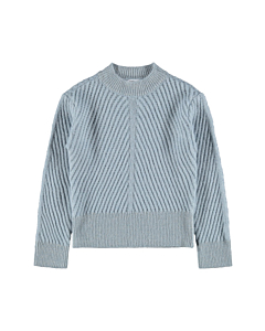 name it TUTTIE Strik bluse / Dusty blue