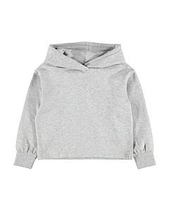 Name It Tekka oversize short hoodie / LIght Grey Melange