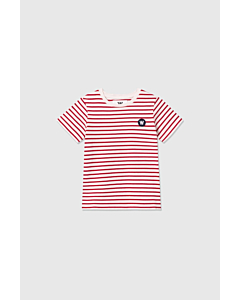 WOOD WOOD Ola stripe t-shirt / Offwhite-red