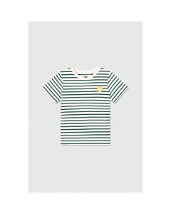 WOOD WOOD Ola T-shirt / off white-faded green stripes