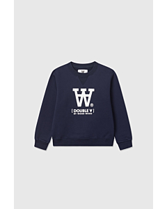 WOOD WOOD Rod dobbelt A sweat bluse / Navy