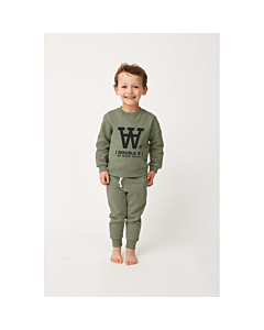 WOOD WOOD Rod sweatshirt / Army green
