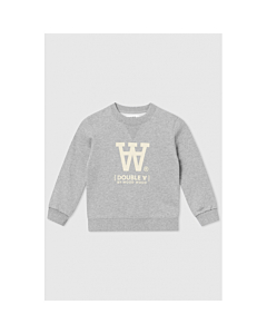 WOOD WOOD Rod sweatshirt / Grey Melange