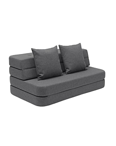 By Klip Klap KK3 fold sofa XL / Grey Blue w. Grey