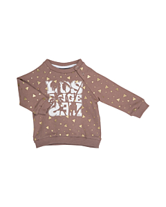 Petit by Sofie Schnoor sweatshirt med guld print / Faded Purple